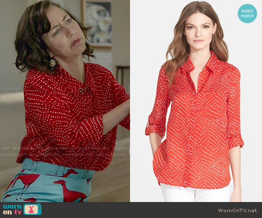 Diane von Furstenberg 'Lorelai Two' Print Shirt worn by Kristen Schaal on Last Man On Earth