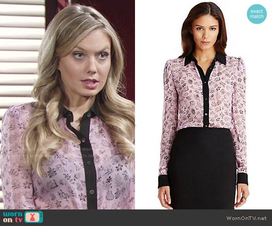 Diane von Furstenberg Mariah Blouse worn by Melissa Ordway on The Young & the Restless