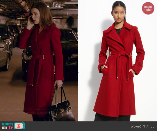 Diane von Furstenberg Mikhaila Coat worn by Julianna Margulies on The Good Wife