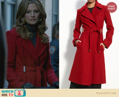Diane von Furstenberg Mikhaila Coat worn by Stana Katic on Castle