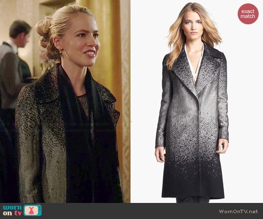 Diane von Furstenberg Nala Coat worn by Amanda Schull on 12 Monkeys