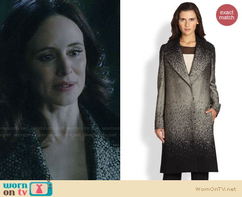 Diane von Furstenberg Nala Coat worn by Madeleine Stowe on Revenge
