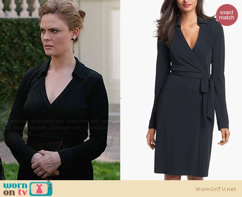 Diane von Furstenberg New Jeanne 2 Jersey Wrap Dress worn by Emily Deschanel on Bones