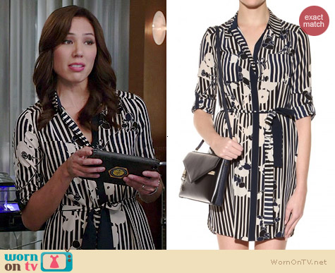 Diane von Furstenberg Polly Dress worn by Michaela Conlin on Bones