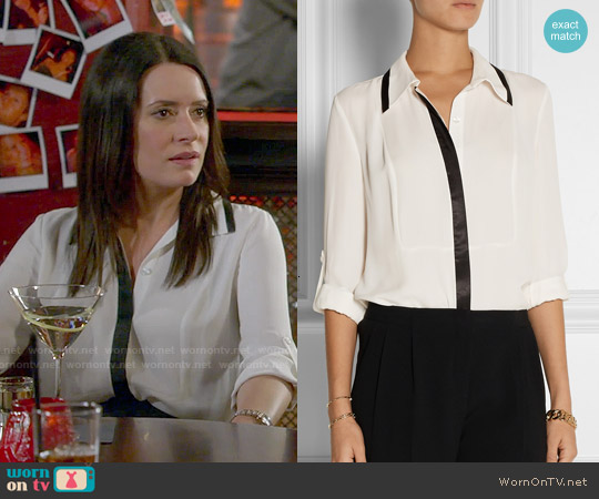 Diane von Furstenberg Quiana Blouse worn by Paget Brewster on Community