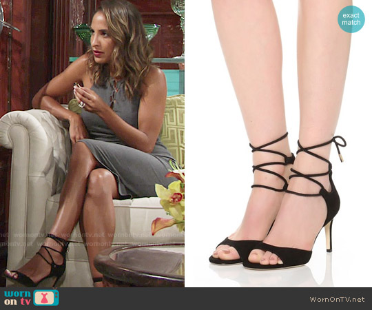 Diane von Furstenberg 'Rimini' Ankle Wrap Sandal worn by Lily Winters on The Young & the Restless