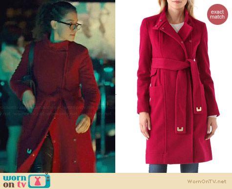 Diane von Furstenberg Sabrina Coat worn by Tatiana Maslany on Orphan Black