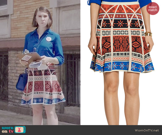 Diane von Furstenberg Samara Skirt worn by Zosia Mamet on Girls