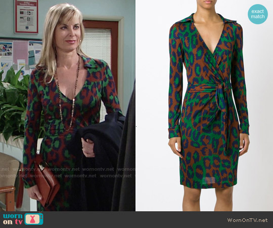 Diane von Furstenberg Savannah Dress worn by Eileen Davidson on The Young & the Restless