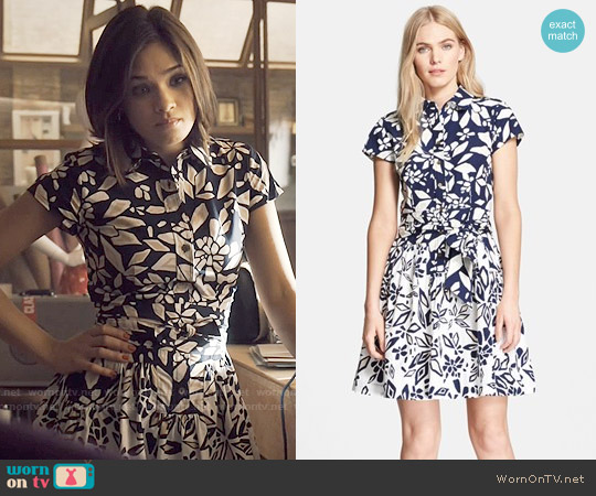 Diane von Furstenberg Scarlett Shirtdress worn by Nicole Gale Anderson on Beauty & the Beast