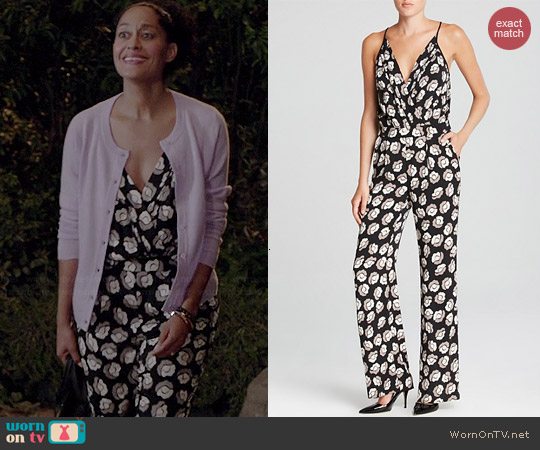 Diane von Furstenberg Shancy Jumpsuit worn by Tracee Ellis Ross on Black-ish