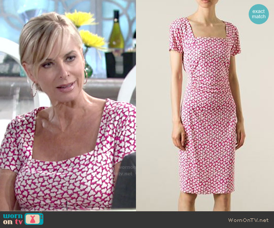 Diane von Furstenberg Stasie Dress worn by Eileen Davidson on The Young & the Restless