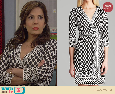 Diane von Furstenberg Tallulah Dress worn by Maria Canals-Barrera on Cristela