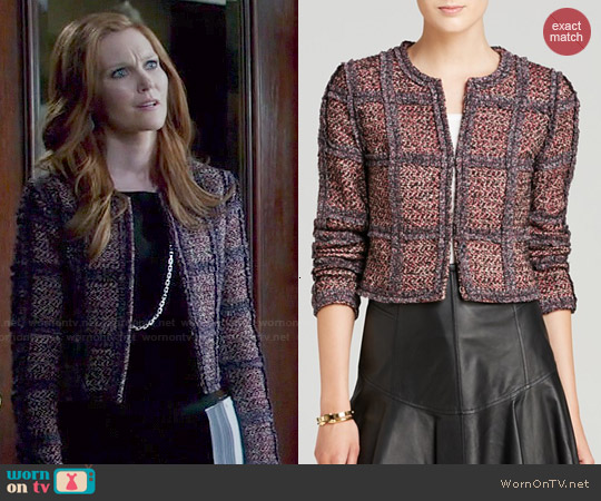 Diane von Furstenberg Tweed Jacket worn by Darby Stanchfield on Scandal