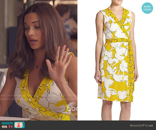 Diane von Furstenberg New Yahzi Dress in Eden Garden/Sunlight worn by Rochelle Aytes on Mistresses