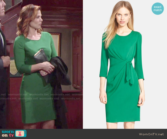 Diane von Furstenberg Zoe Dress in Hunter Green worn by Gina Tognoni on The Young & the Restless