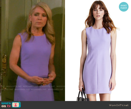 Diane von Furstenberg Carrie Dress in Lavender worn by Melissa Reeves on Days of our Lives
