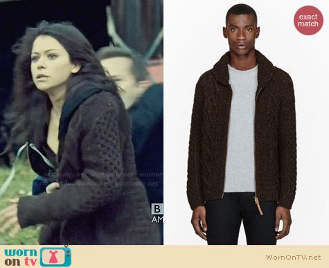 Diesel Cable Knit Idra Cardigan worn by Tatiana Maslany on Orphan Black