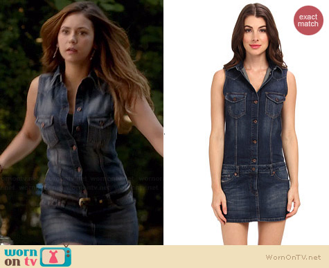 Diesel De-Drios Denim Dress worn by Nina Dobrev on The Vampire Diaries
