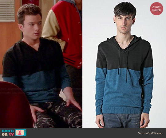 Diesel K-Susa Colorblock Sweater worn by Chris Colfer on Glee