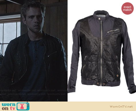 Diesel Nylon & Leather Jacket worn by Max Thieriot on Bates Motel