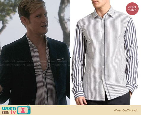 Diesel Setaglia Stripe Shirt worn by Gabriel Man on Revenge