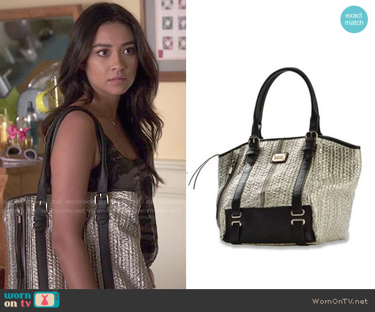 Diesel Sheenn Silver Tote worn by Shay Mitchell on PLL