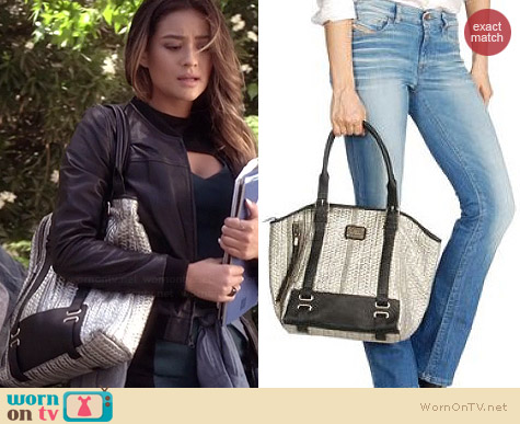 Diesel Sheenn Tote worn by Shay Mitchell on PLL