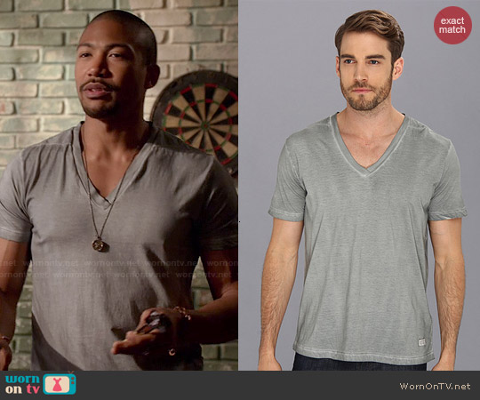 Diesel T-Gatien T-Shirt in Light/Grey worn by Charles Michael Davis on The Originals