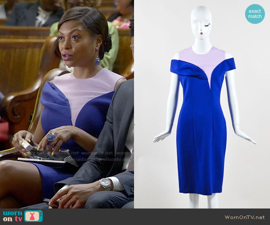 Dior Fall 2014 Blue Sheath Dress worn by Taraji P. Henson on Empire
