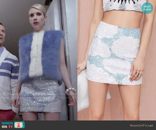 Discount Trash In The Clouds Sequin Skirt worn by Chanel Oberlin on Scream Queens