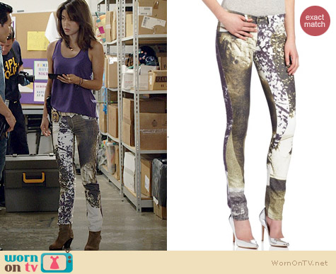 Diesel Livier Printed Legging Jeans worn by Grace Park on Hawaii Five-O