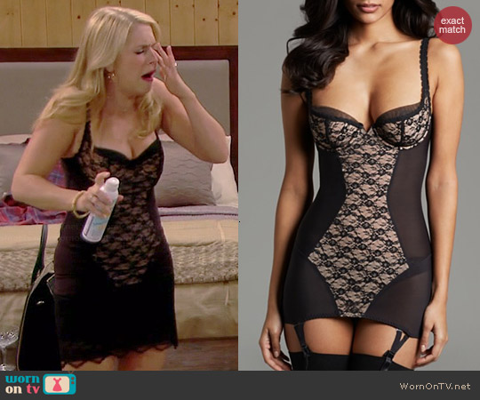 Dita von Teese Fitted Chemise in Sheer Witchery worn by Melissa Joan Hart on Melissa & Joey