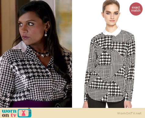 DKNY Dionne Blouse worn by Mindy Kaling on The Mindy Project