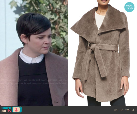 DL2 by Dawn Levy 'Hannah' Belted Alpaca Coat worn by Ginnifer Goodwin on OUAT