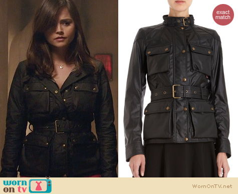 Doctor Who Fashion: Belstaff Roadmaster Jacket worn by Jenna Coleman