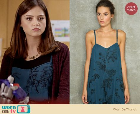 Doctor Who Fashion: Sparkle and Fade loose romper at Urban Outfitters worn by Jenna Coleman