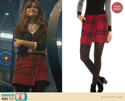 Doctor Who Xmas Fashion: Karen Millen Oversize Check Skirt worn by Clara Oswald