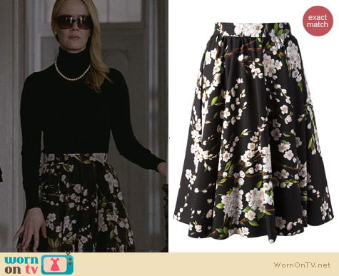 Dolce & Gabbana Black floral blossom skirt worn by Sarah Paulson on AHS Coven