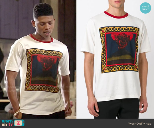 Dolce & Gabbana Volcano Print Cotton Tee worn by Bryshere Y. Gray on Empire