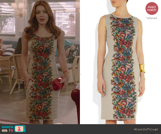 Dolce & Gabbana Floral Print Dress worn by Elena Satine on Revenge