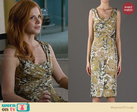 Dolce & Gabbana Floral Sleeveless Dress worn by Sarah Rafferty on Suits