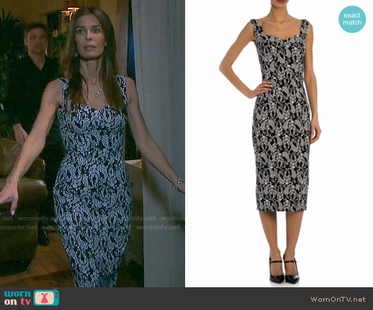 Dolce & Gabbana Floral Sweetheart Sheath Dress worn by Kristian Alfonso on Days of our Lives
