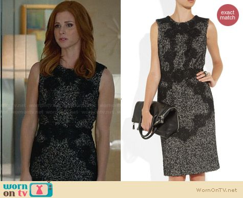 Dolce & Gabbana Lace Applique Dress worn by Sarah Rafferty on Suits