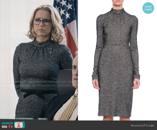 Dolce & Gabbana Long-Sleeve Mock-Neck Sheath Dress worn by Téa Leoni on Madam Secretary
