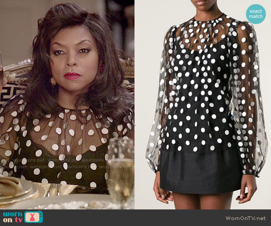 Dolce & Gabbana Polka Dot Blouse worn by Taraji P. Henson on Empire