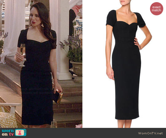 Dolce & Gabbana Sicilian Short Sleeve Sweetheart Dress worn by Madeleine Stowe on Revenge