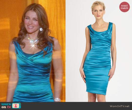 Dolce & Gabbana Silk Satin Dress worn by Elizabeth Hurley on The Royals