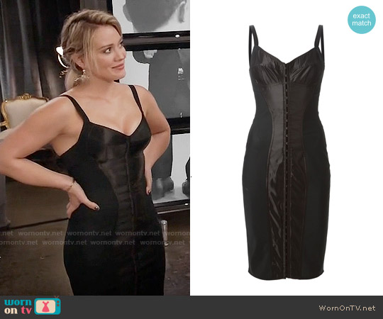 Dolce & Gabbana Strappy Corset Dress worn by Hilary Duff on Younger
