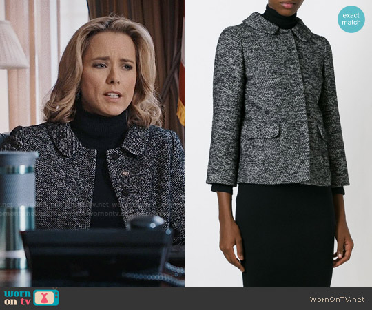 Dolce & Gabbana Slim Fit Tweed Jacket worn by Téa Leoni on Madam Secretary